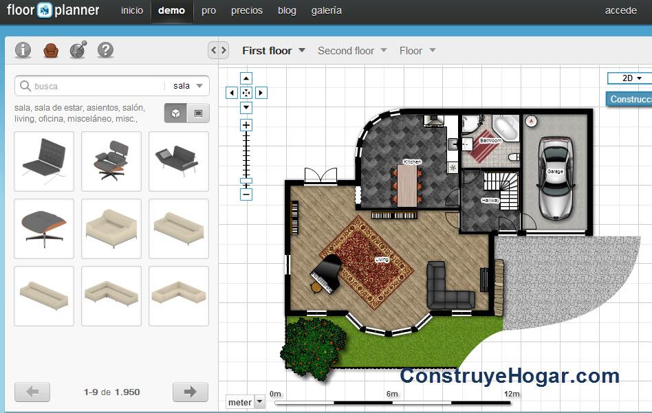 Aplicaciones online para hacer planos de casas gratis for Programa para disenar habitaciones en 3d