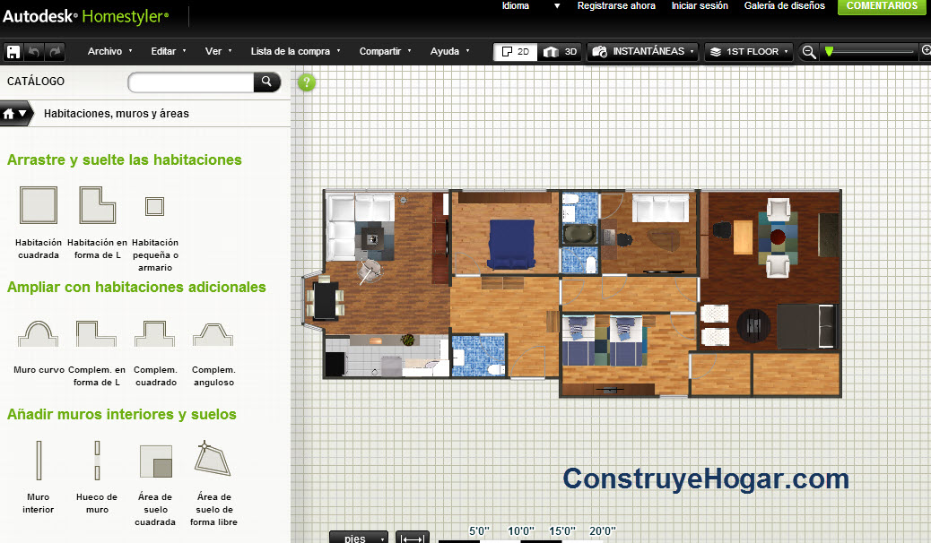 Aplicaciones online para hacer planos de casas gratis for Programa para decorar habitaciones online