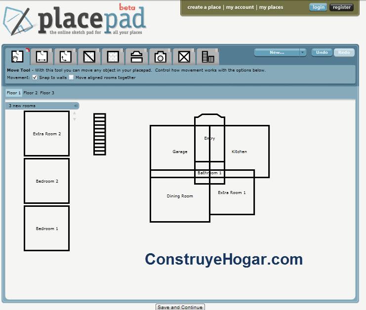 placepad para hacer planos