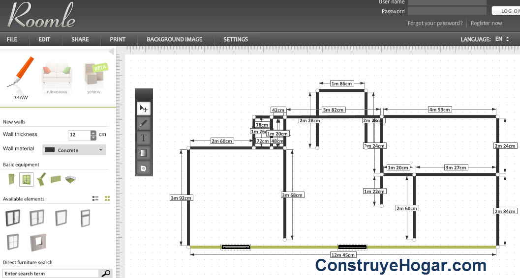 Aplicaciones online para hacer planos de casas gratis for Programa para distribuir una casa