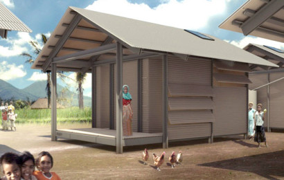Casa construida con materiales reciclados