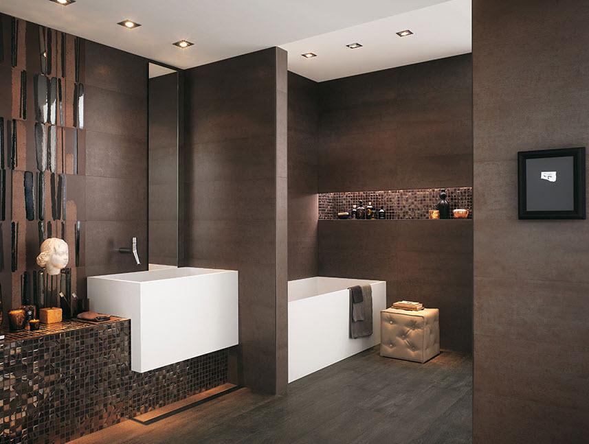 Cer mica para cuartos de ba o modelos dise os y colores - Carrelage colore salle de bain ...