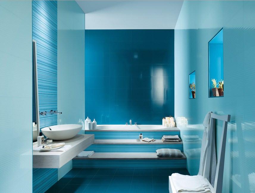 Pisos para ba os color azul for Colores de granito para banos
