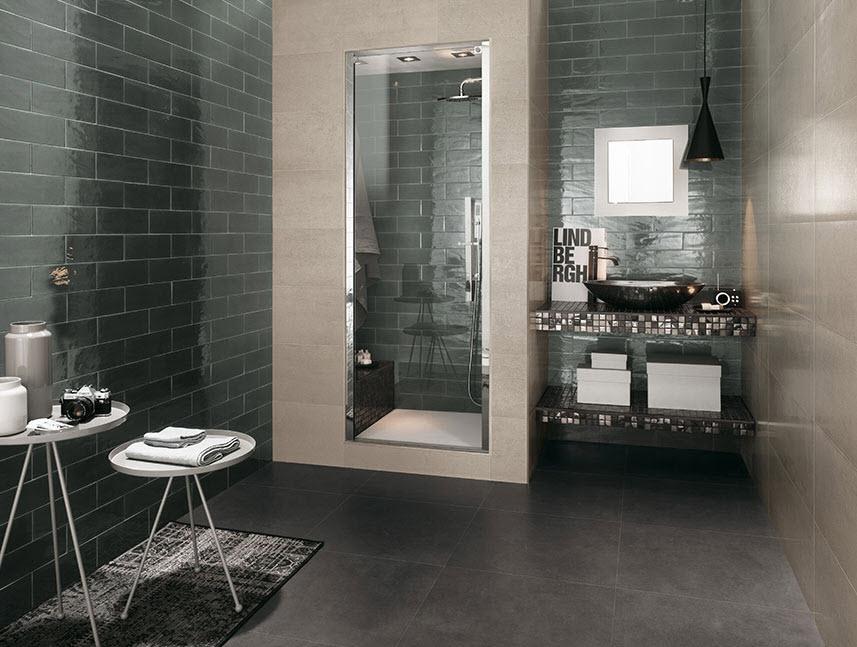 Decoracion De Baño Gris:en forma de ladrillo tambien queda muy bien para decorar cuartos de