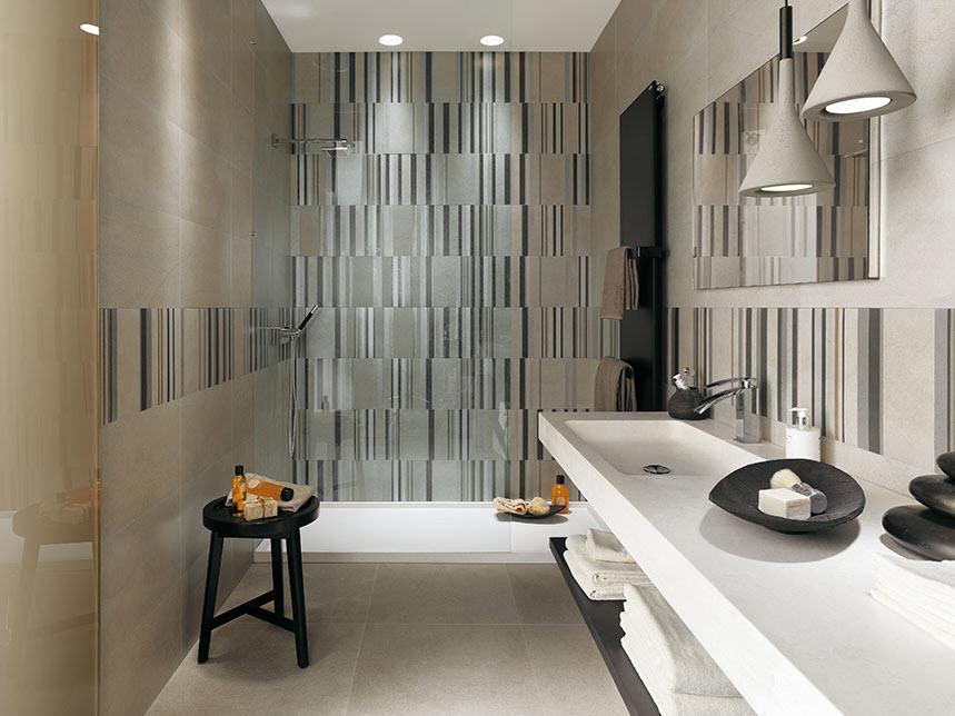 Ideas Para Decorar Baños Ceramica:Este diseño de cerámica de cuarto de baño se esta convirtiendo en