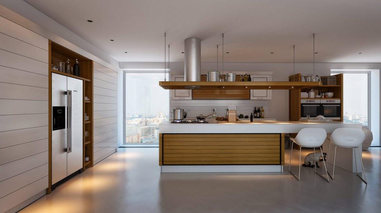 Cocinas con contraste dise os y fotos para inspirarte - Decorar en blanco y madera ...