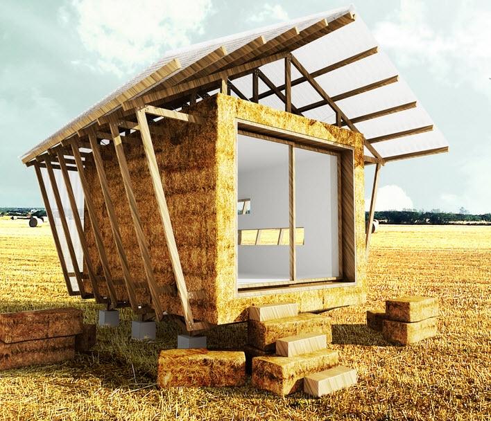 Dise o de casa hecha de paja construcci n de vivienda for Diseno de construccion de casas
