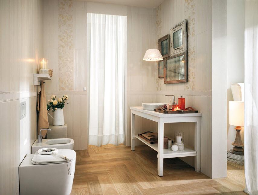 Baños Diseno Clasico:Cuarto de baño con diseño clásico de cerámicas