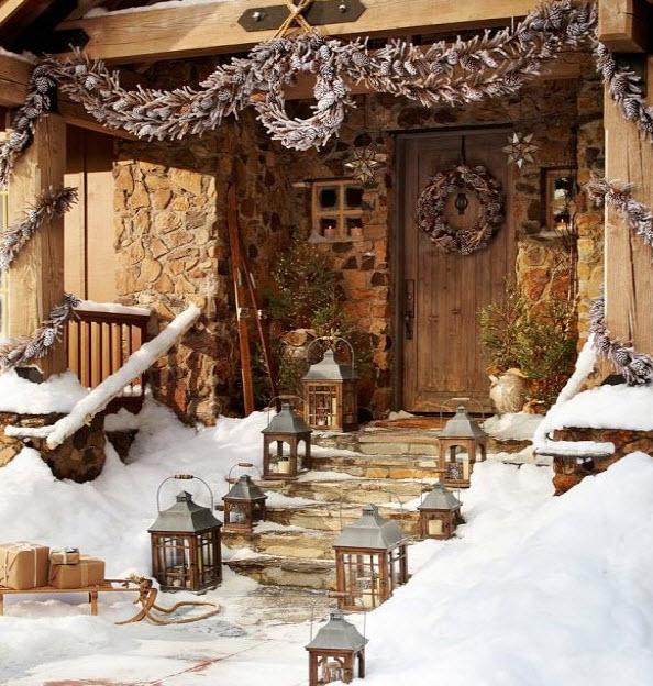 Decoracion Rustica De Navidad ~ Decoraci?n de navidad en fachadas de casas  Construye Hogar