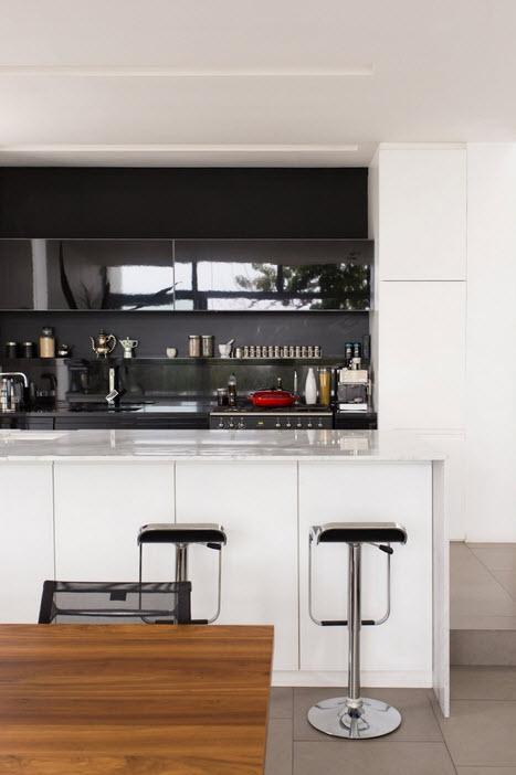 Dise o de casa angosta fachada y dise o de interiores - Taburetes de cocina modernos ...