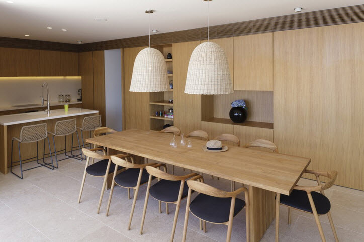 Dise o de moderna casa de playa v2 de 3hld fachada y for Comedor cocina de diseno