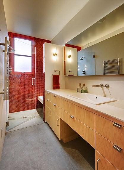 Diseno De Baños Medianos:Diseño de cuarto de baño contraste de colores