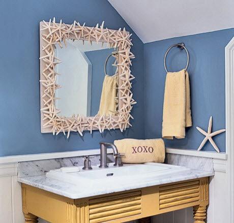 Decoración de cuarto de baño con espejo de estrellas