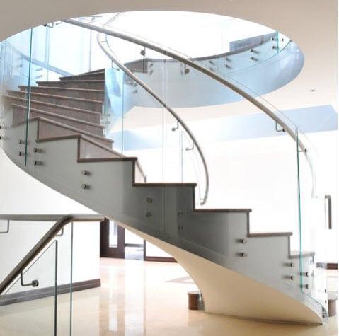 Dise o de escalera en espiral por european cabinets - Escalera en espiral ...