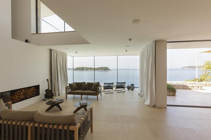 diseo de interiores de casa de playa sala