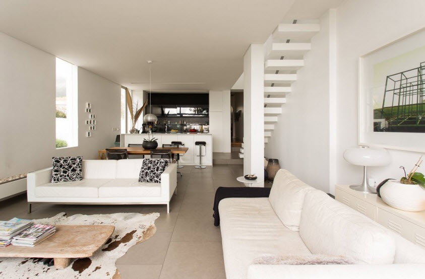 Dise o de casa angosta fachada y dise o de interiores - Como disenar interiores de casas ...