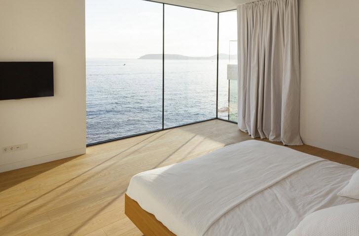 Baños Con Vista Al Mar: abarca del techo al piso para disfrutar de la hermosa vista del mar