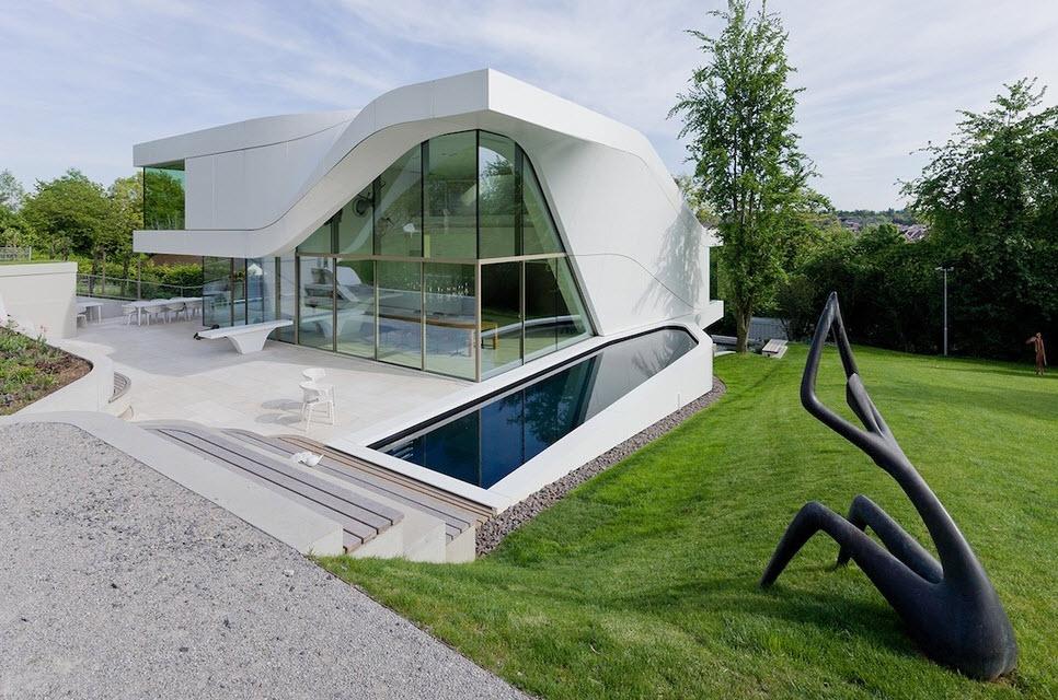 fachada de casa ultra moderna