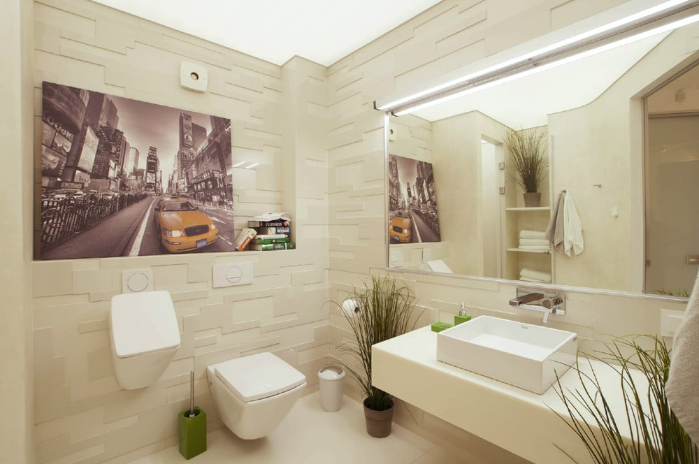 Dise o de penthouse ultra moderno decoraci n de for Azulejos para cuartos de bano modernos