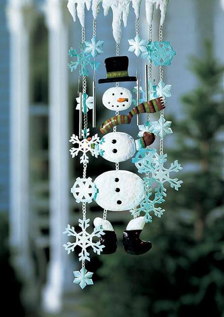 Decoraci n de navidad en fachadas de casas construye hogar - Nieve para arbol de navidad ...