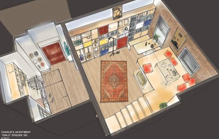 Dise o de interiores de mini apartamento y planos dise os for Diseno de oficinas pequenas planos