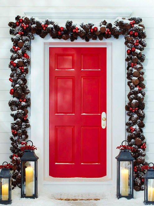 Decoraci n de navidad en fachadas de casas construye hogar - Casas decoradas en navidad ...