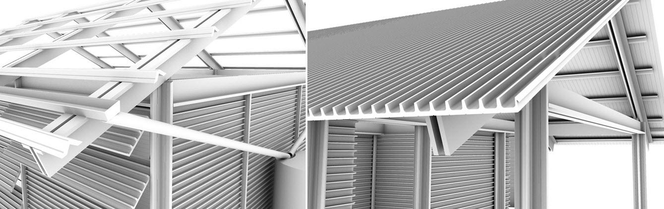 Casa hecha de pl sticos reciclados de vertederos for Tipos de techos de casas