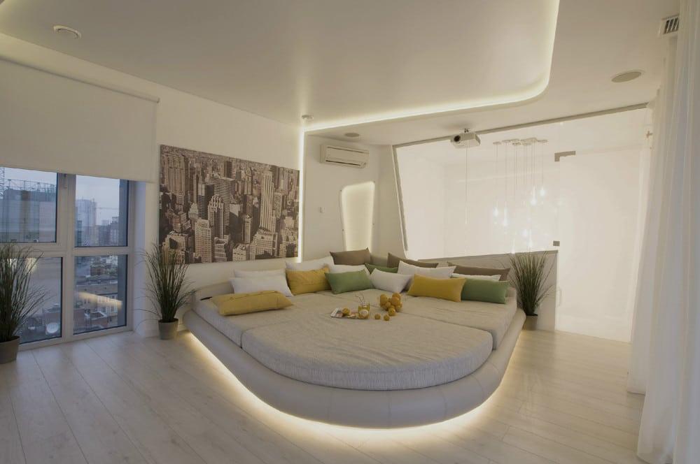 Dise o de penthouse ultra moderno decoraci n de for Diseno de habitacion principal pequena