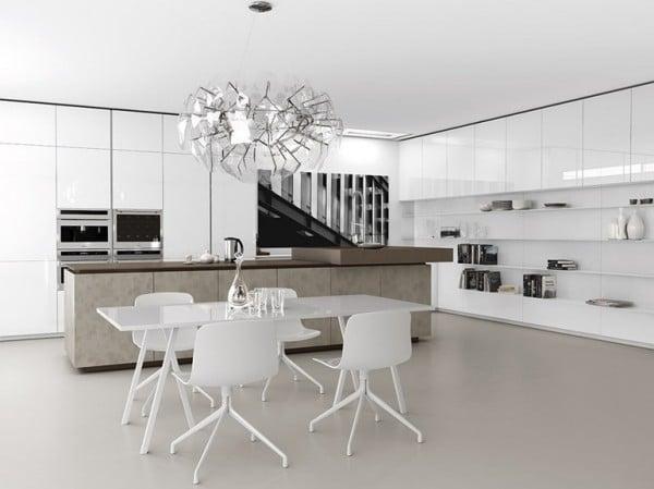 Dise o de cocinas modernas minimalistas fotos for Lamparas de cocina modernas