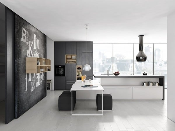 Dise o de cocina gris y blanco minimalista 2 construye hogar - Casas de diseno minimalista ...