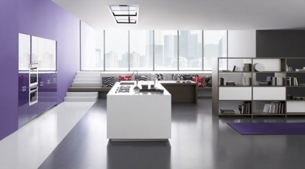 Dise o de cocinas modernas minimalistas fotos for Color de piso para cocina