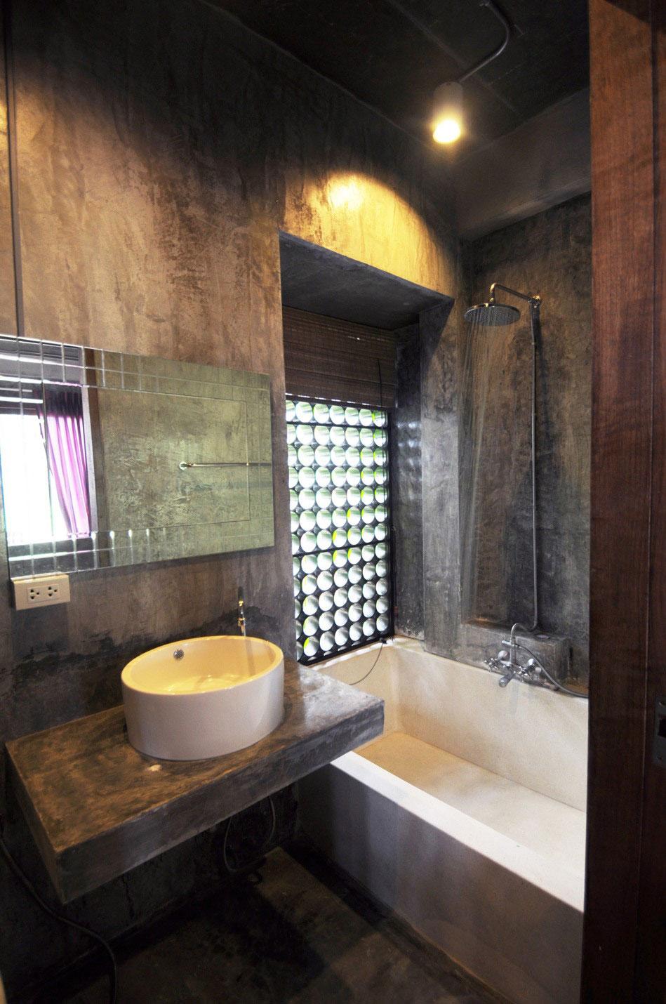 Diseno De Baño Para Casa:Diseño de cuarto de baño en casa de hormigón