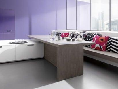 Diseño de isla de cocina minimalista