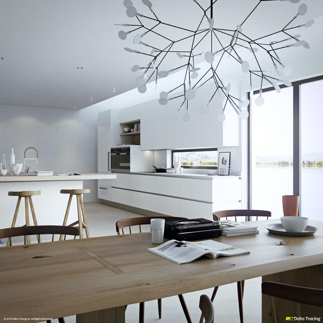 Dise o de cocinas modernas iluminaci n de interiores - Lamparas de techo cocina ...