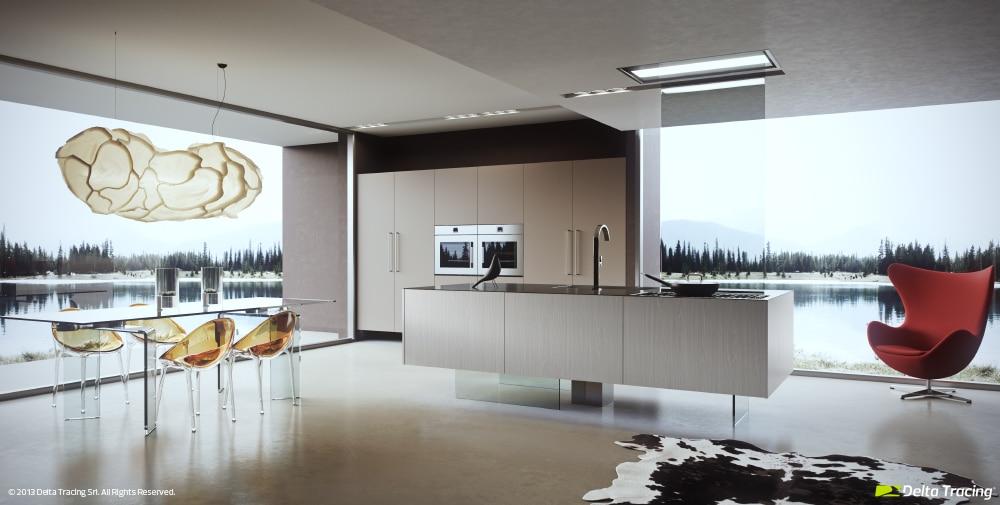 iluminacin natural y artificial de cocina