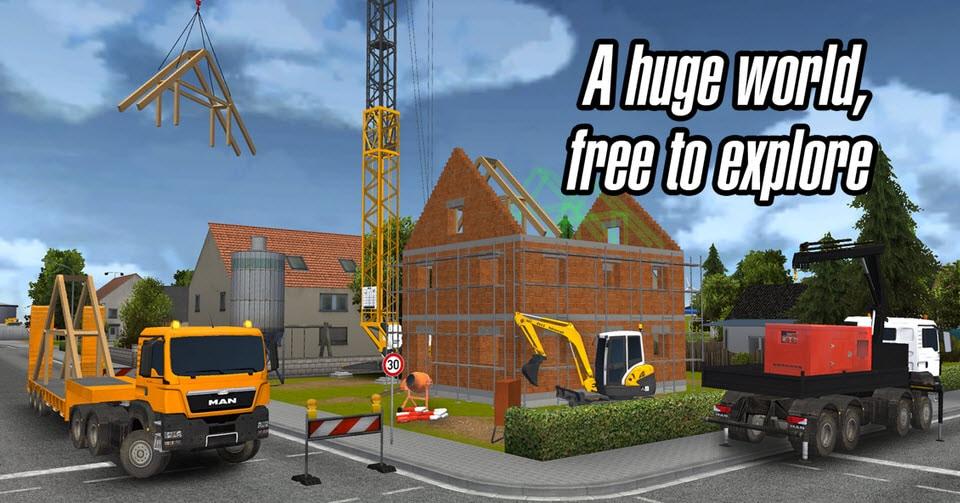 juego de construccin de casas con maquinaria
