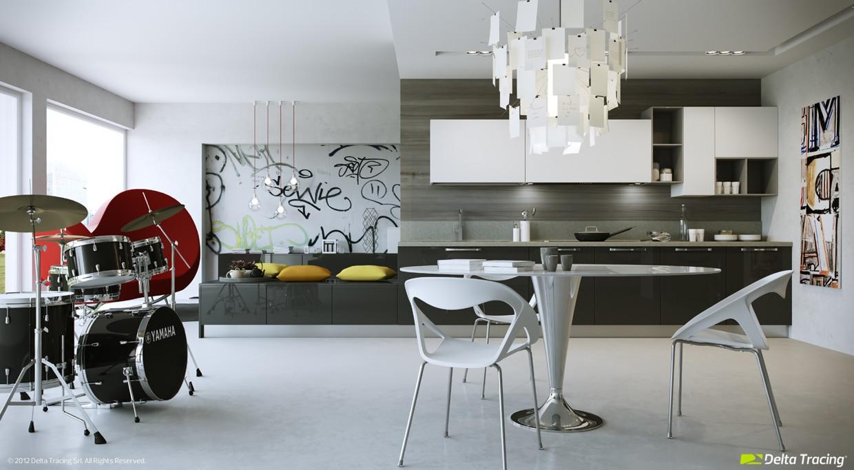 Dise o de cocinas modernas iluminaci n de interiores for Diseno de interiores para cocinas pequenas