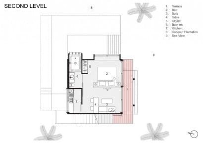 Plano segundo piso vivienda de concreto