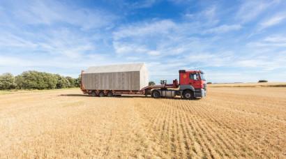 Transporte de casas de hormigón