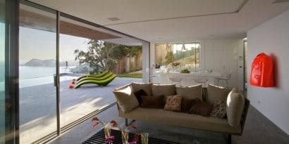 Vista de la sala kitchenet  con ingreso a terraza