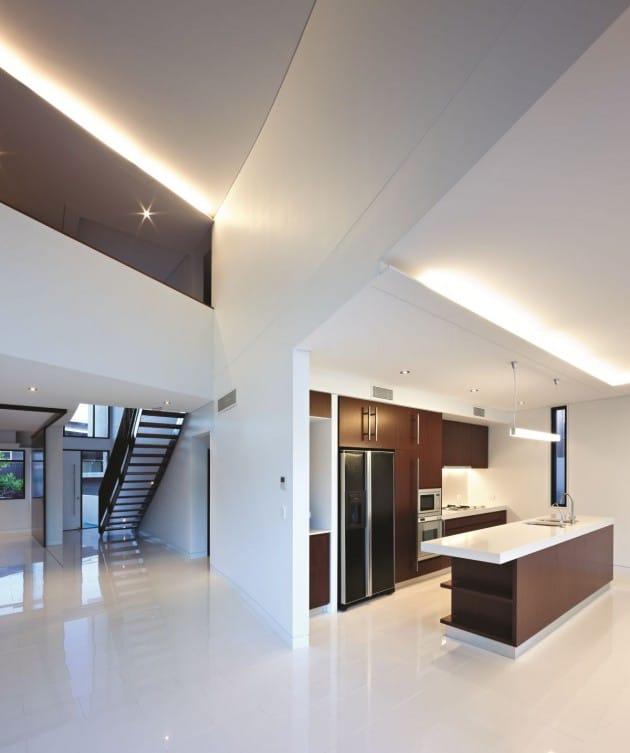 Dise o de moderna casa de dos pisos de hormig n incluye - Casas modulares de diseno moderno ...