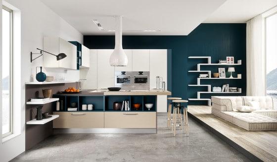 Diseño de cocina moderna de lineas rectas y minimalista