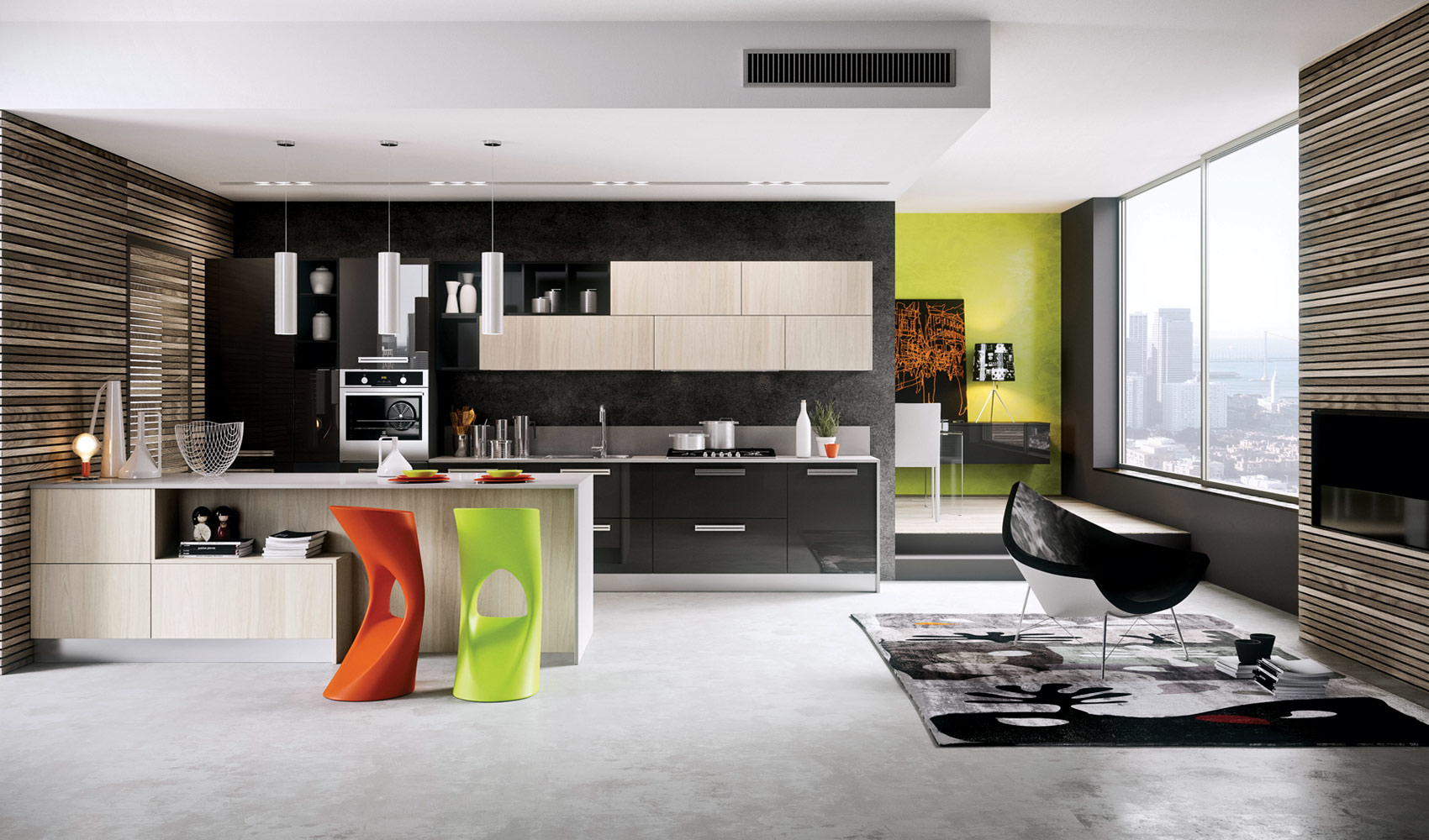 Dise o de cocinas modernas al estilo arte pop construye for New kitchen designs 2015