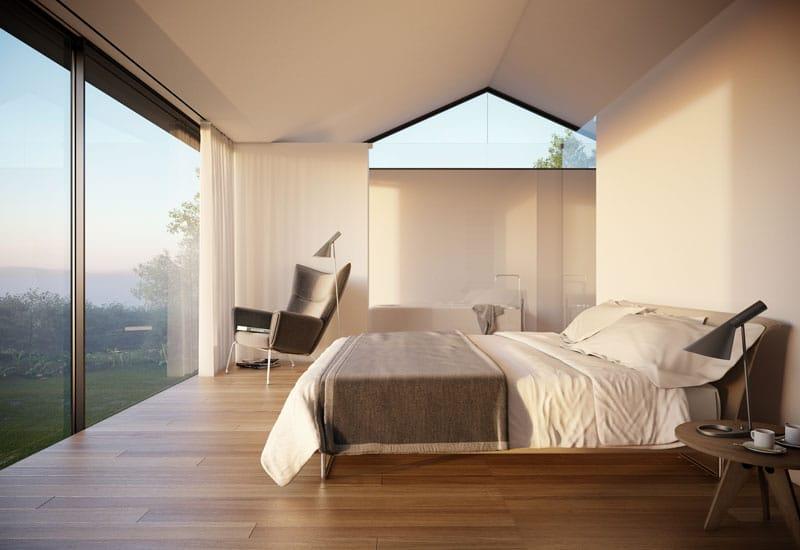 diseo de dormitorio principal con vista al campo with interiores de pisos