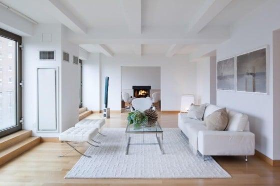 Diseño de interiores apartamento blanco