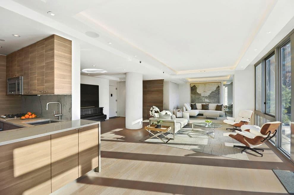 Dise o de interiores de apartamento cocina comedor sala for Diseno cocina comedor