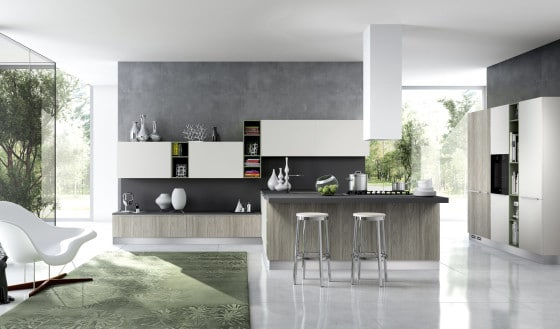 Diseño de moderna cocina de arte popular