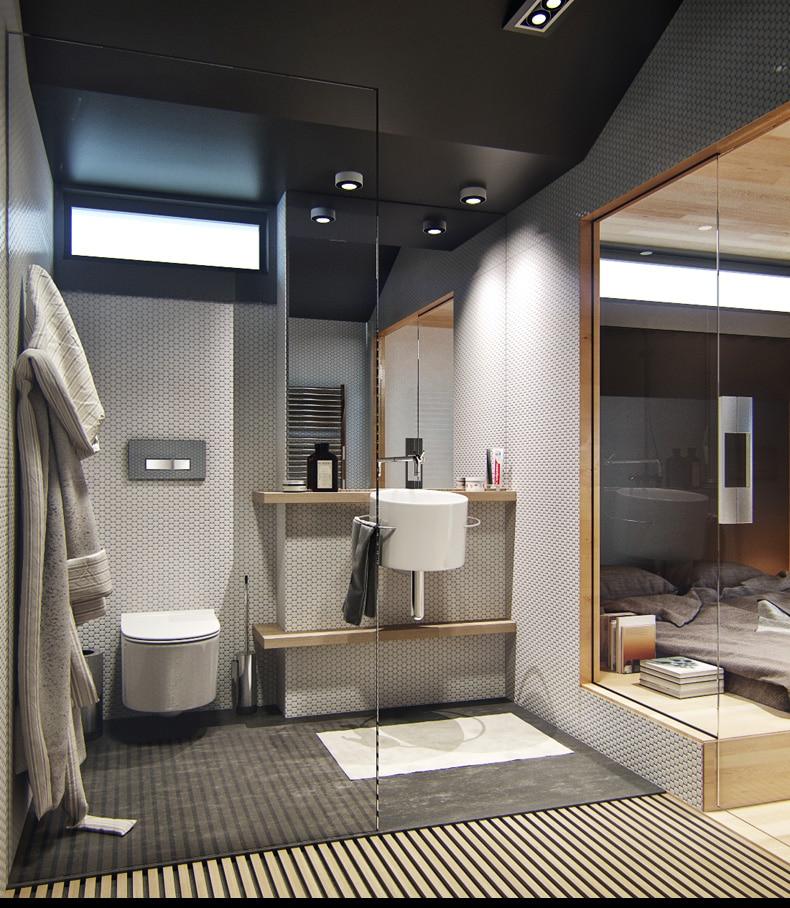 Diseno De Interiores Baños Pequenos Modernos: de pequeño apartamento, incluye planos y decoración de interiores