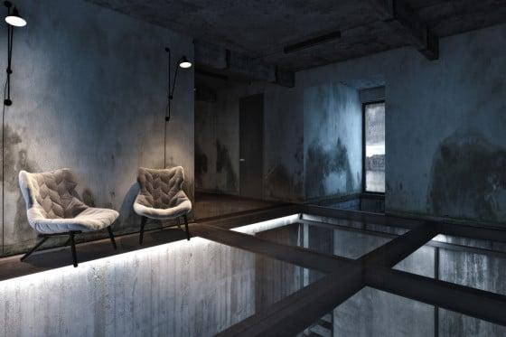 Dise o industrial de una casa decoraci n de interiores - Ladrillos traslucidos ...