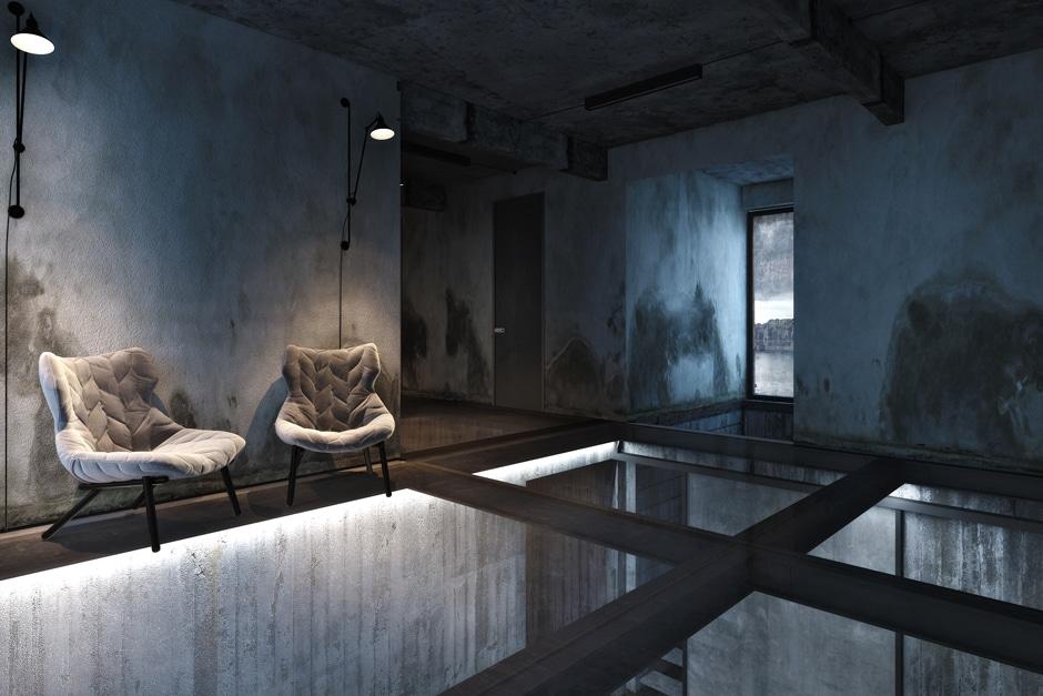 diseo de interiores y exteriores de casa industrial